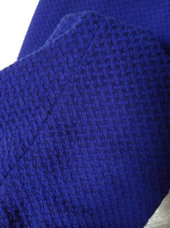 Трикотажное платье синее принт 14-16 размер 46-48 размер - Фото 5