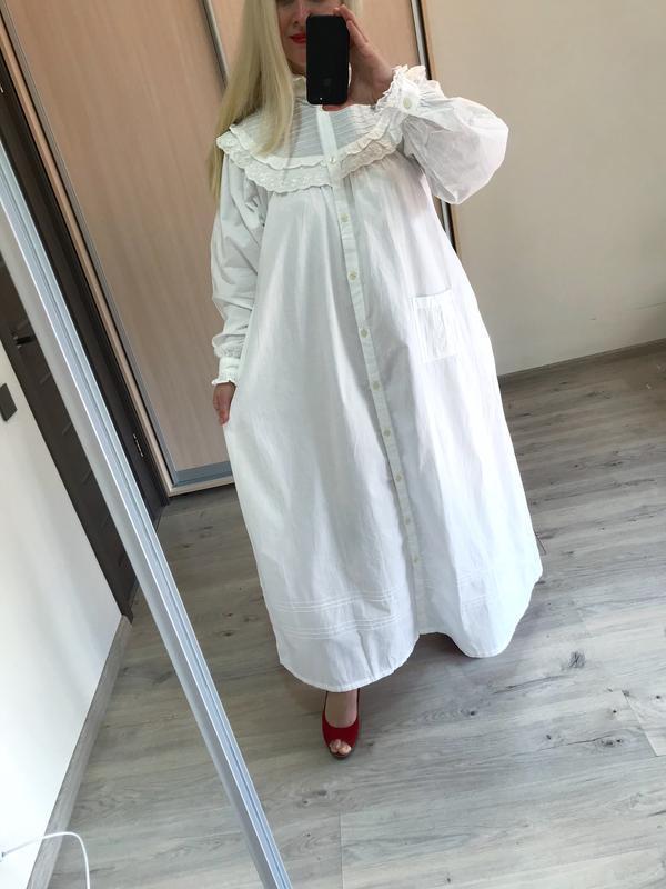 Винтажное хлопковое платье рубашка большой размер