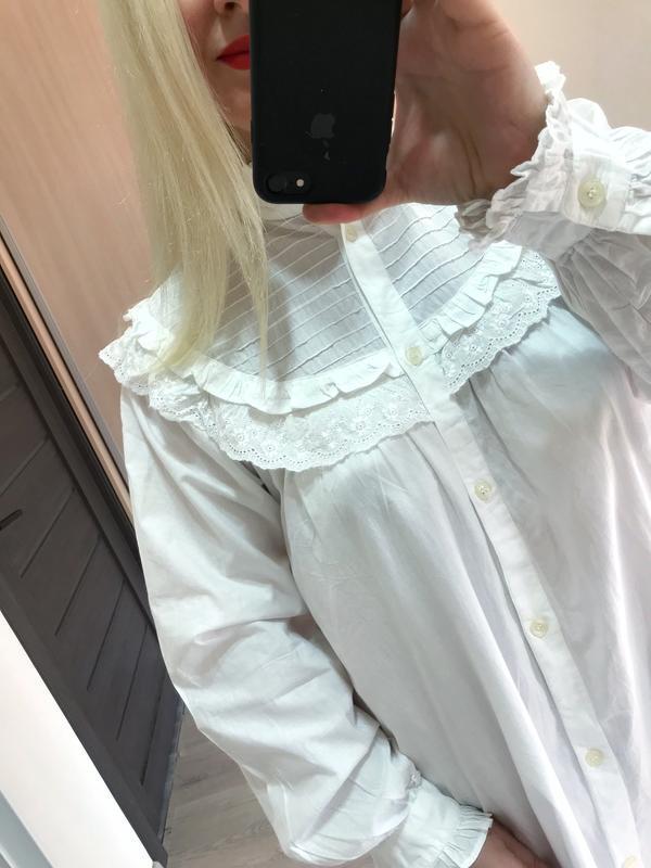 Винтажное хлопковое платье рубашка большой размер - Фото 7