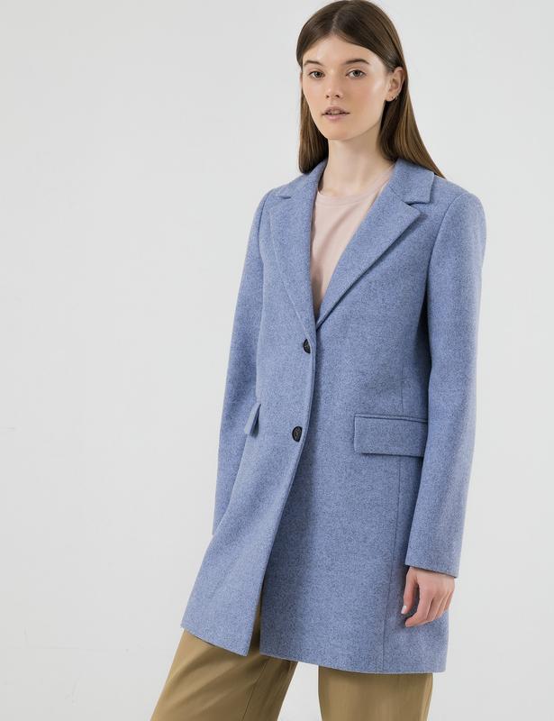 Женское стильное пальто season валери голубого цвета