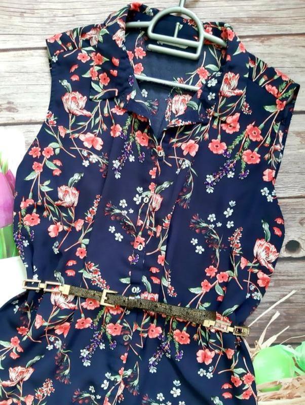 Стильная нарядная блузка шифоновая батал - Фото 2