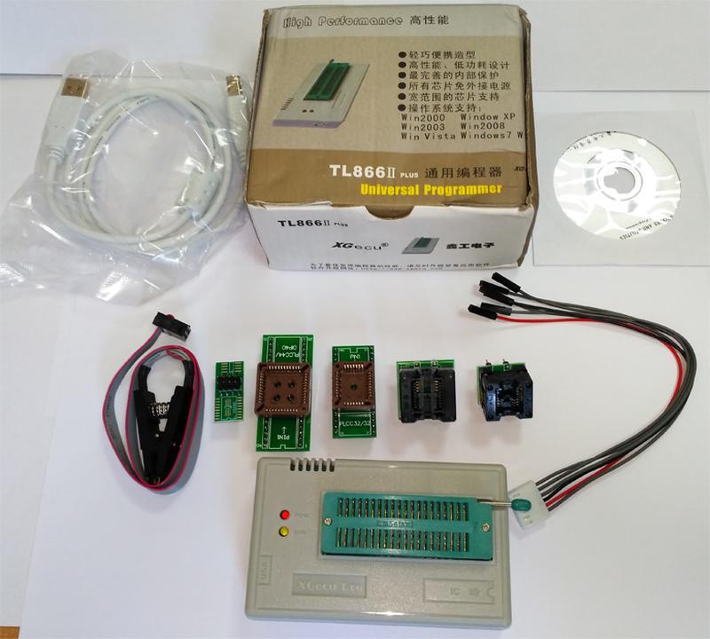 USB Программатор XGecu (MiniPro) TL866II Plus +адаптеры - Фото 2