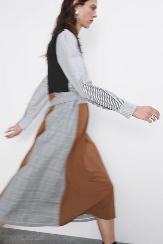 Новое платье из комбинированных тканей - Фото 4