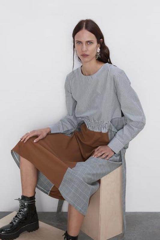 Новое платье из комбинированных тканей - Фото 2