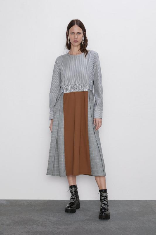 Новое платье из комбинированных тканей