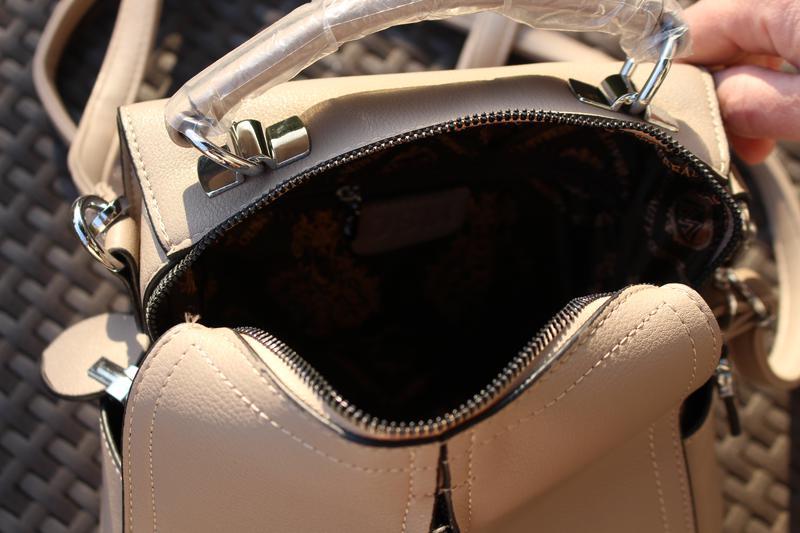 Сумка бежевая стильная модная красивая вместительная - Фото 3