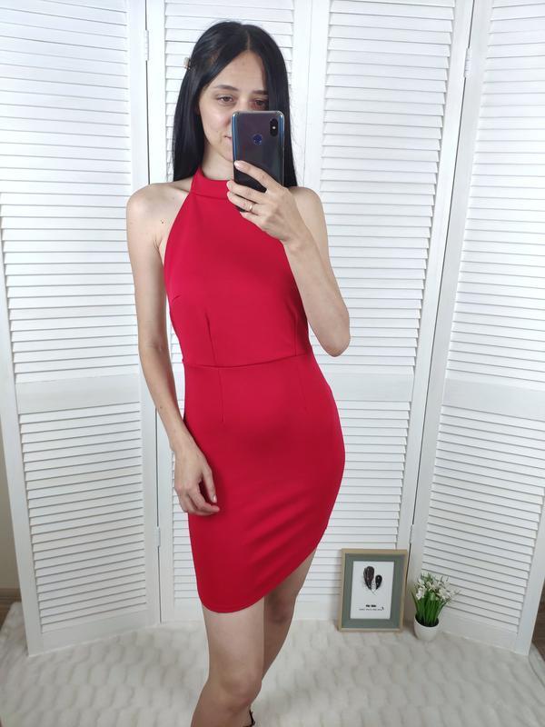 Платье с чекером missguided, p-p uk s/10