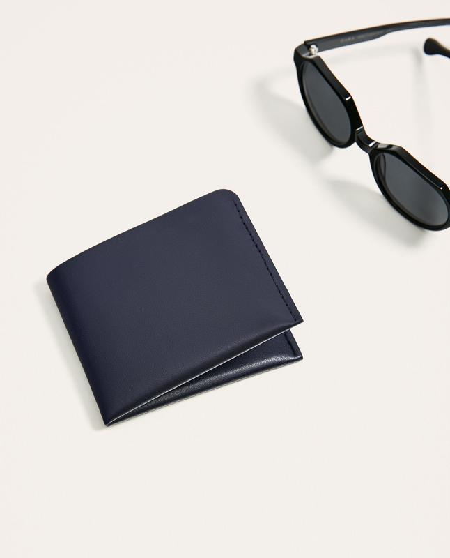 Двуцветный кожаный кошелек zara man !