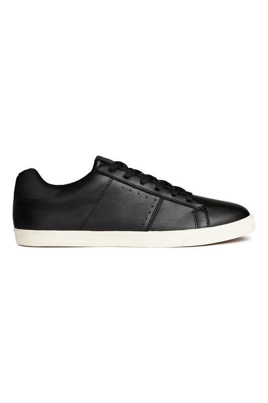 Чёрные кожаные кроссовкиh&m !