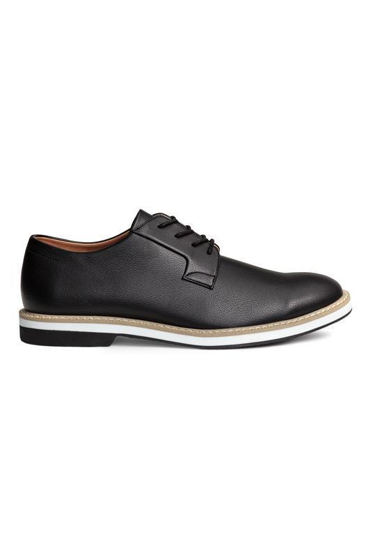 Черные кожаные туфли дерби h&m !