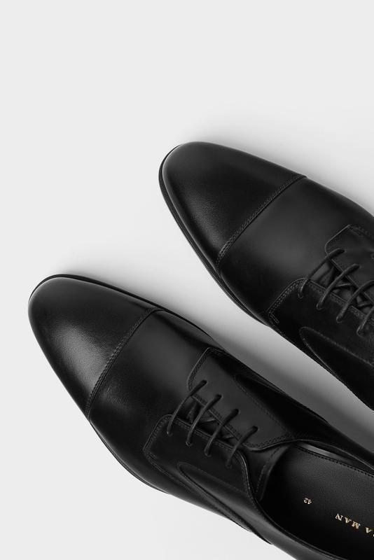 Черные кожаные туфли zara man !