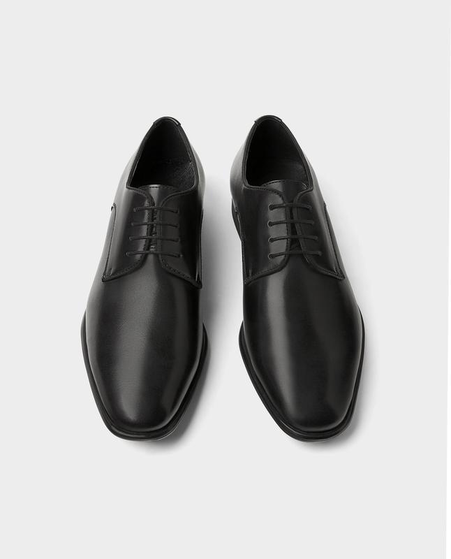 Черные кожаные туфли zara man ! - Фото 8