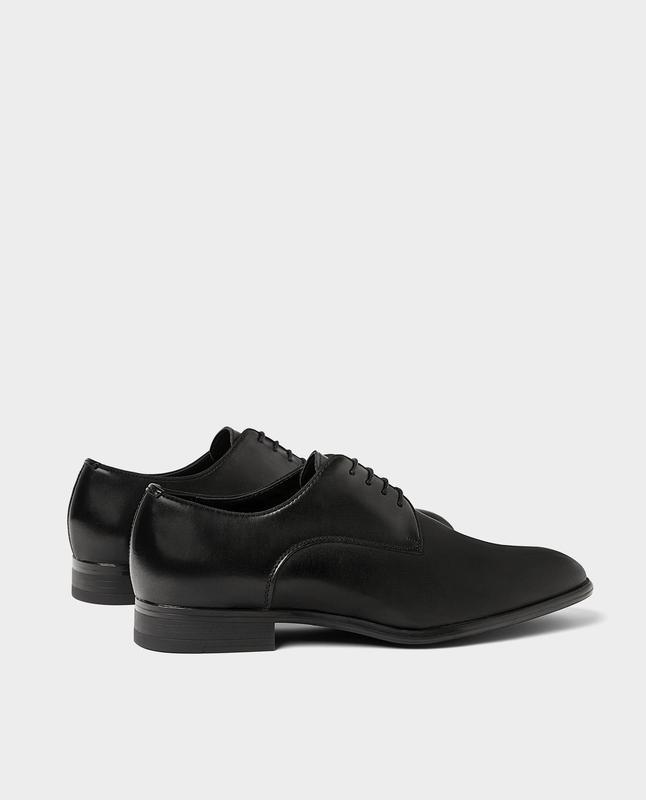 Черные кожаные туфли zara man ! - Фото 2