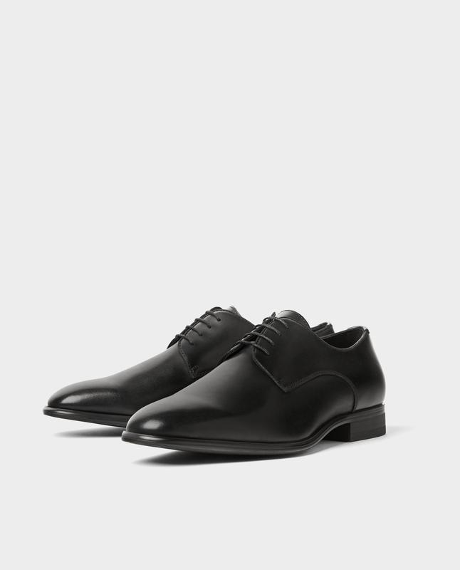 Черные кожаные туфли zara man ! - Фото 5