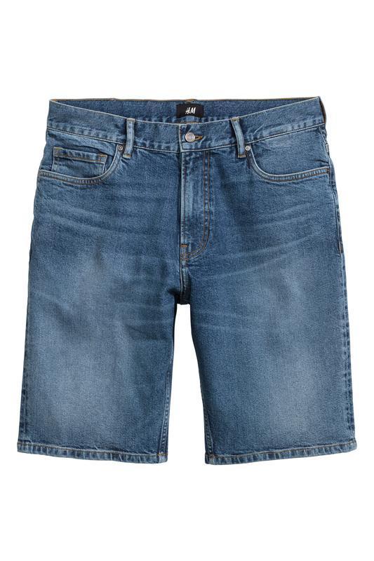 Синие джинсовые шорты h&m , slim fit !