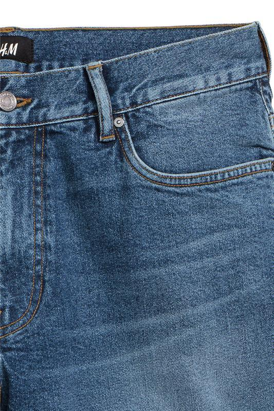 Синие джинсовые шорты h&m , slim fit ! - Фото 3