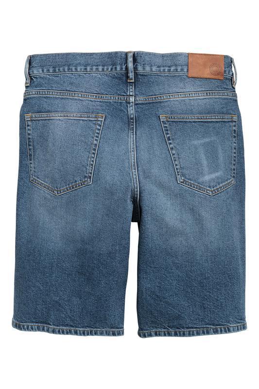 Синие джинсовые шорты h&m , slim fit ! - Фото 4