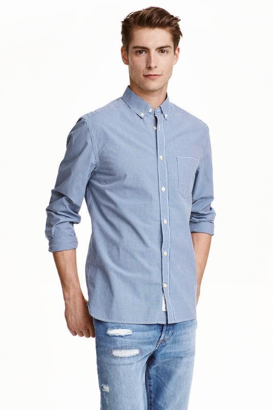 Клечатая  рубашка h&m!