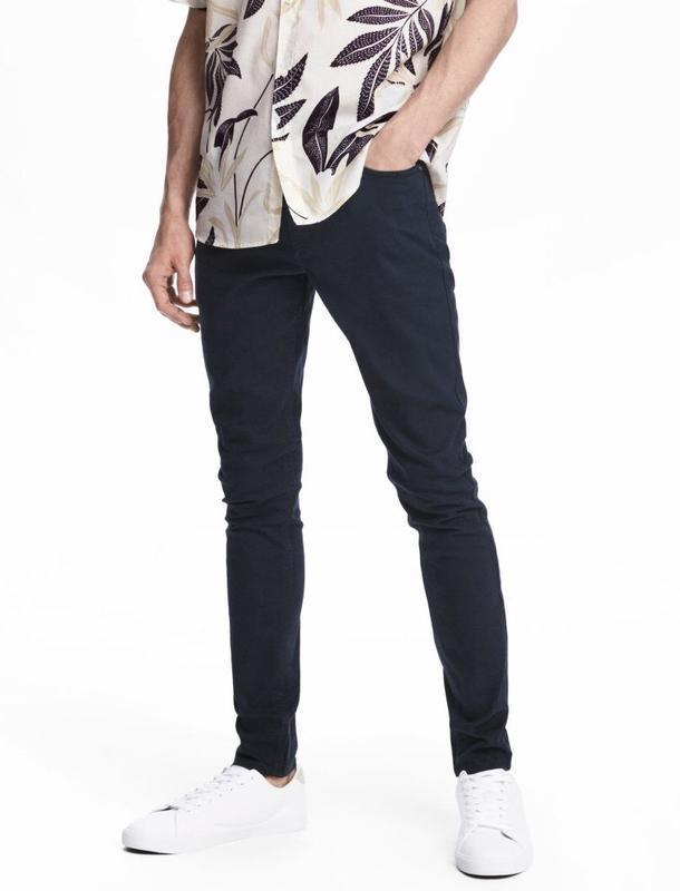 Твиловые брюки h&m , skinny fit!