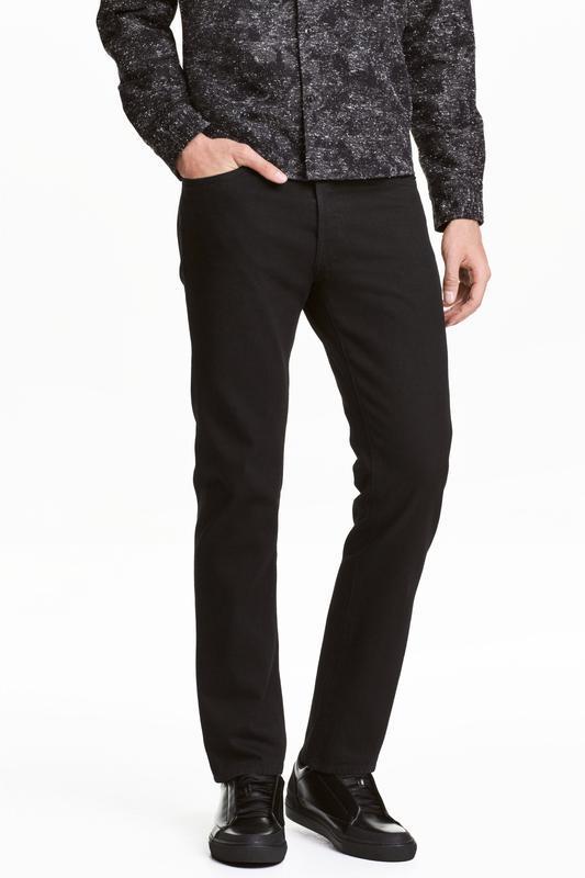 Чёрные джинсы h&m, straight regular jeans 👖!