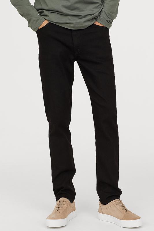 Чёрные джинсы h&m, slim low jeans !