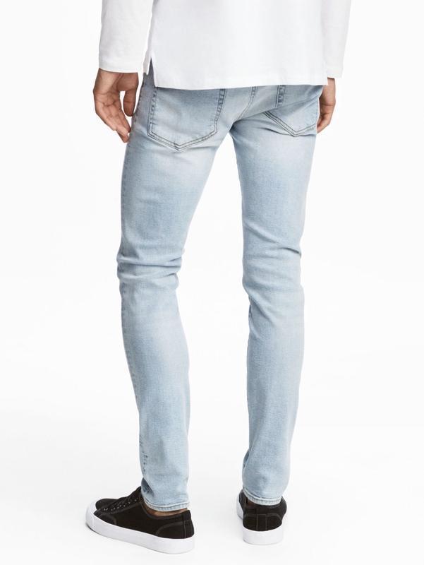 Светло-голубые джинсы h&m, skinny fit !