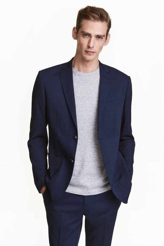 Синий пиджак h&m , slim fit !