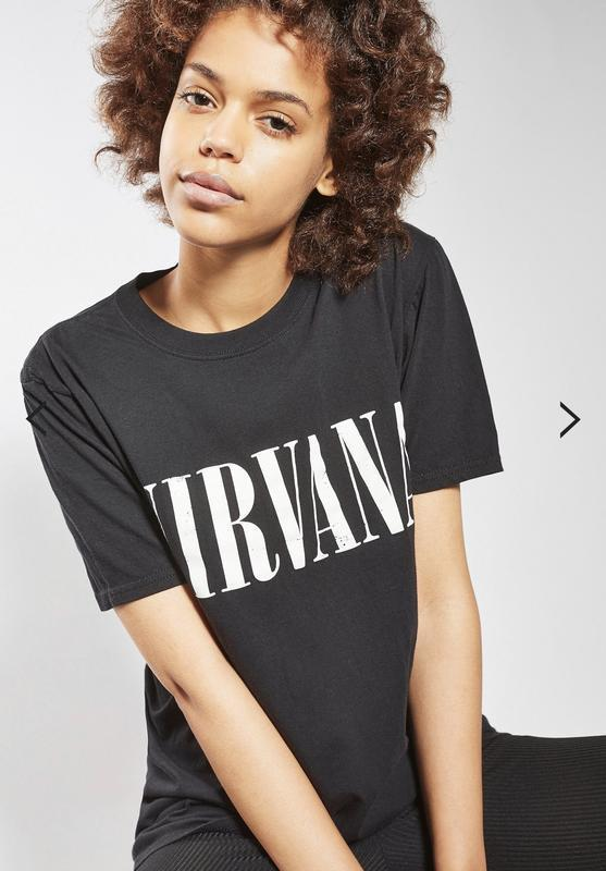 Футболка topshop nirvana holey t-shirt by and finally !