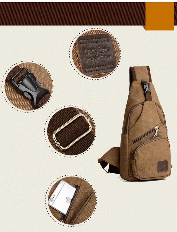 Мужской однолямочный рюкзак Fabra сумка-слинг - Фото 14