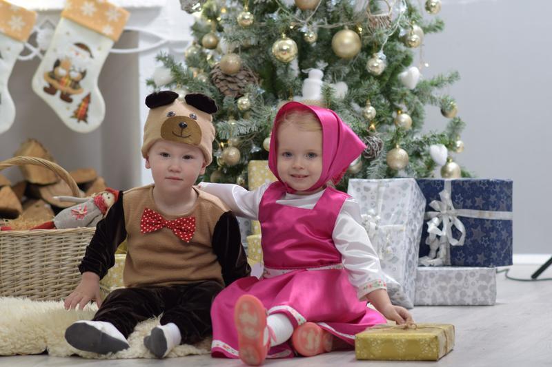 Новогодние костюмы Маша и Медведь
