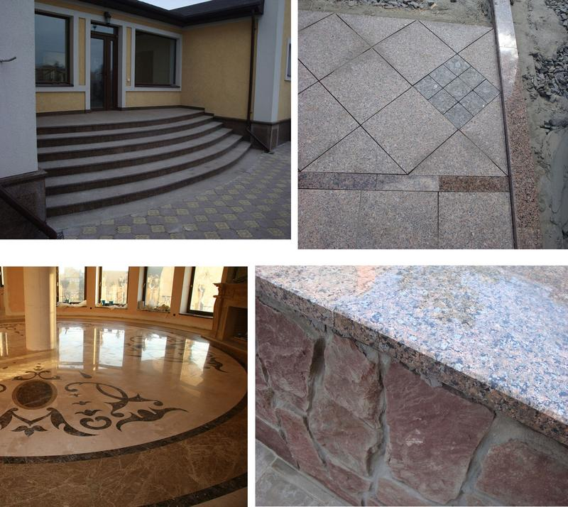 Гранит Плитка Брусчатка Лестницы