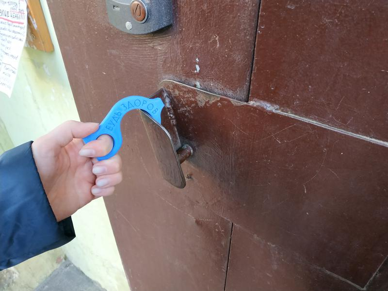Крючок бесконтактного открывания дверей брелок тяни-толкай защита - Фото 5