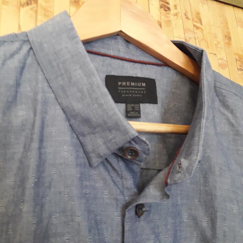 Коттоновая натуральная рубашка premium theadbare