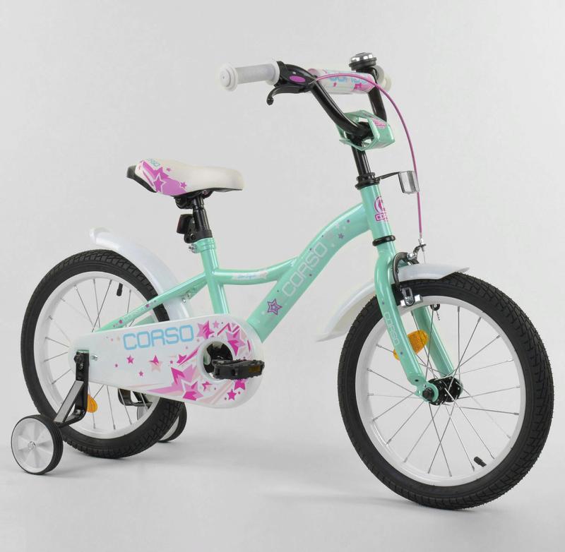 Детский велосипед 16 дюймов ST-30771 бирюзовый
