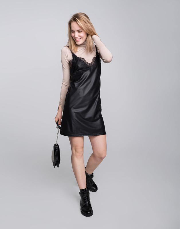 !продам новое женское кожанное летнее платье сарафан