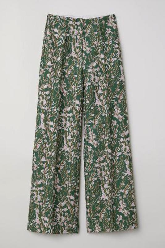 Жаккардовые брюки h&m conscious exclusive