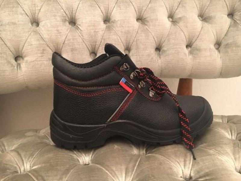 Рабочие новые безопасные кожаные туфли / ботинки( защитная обувь)