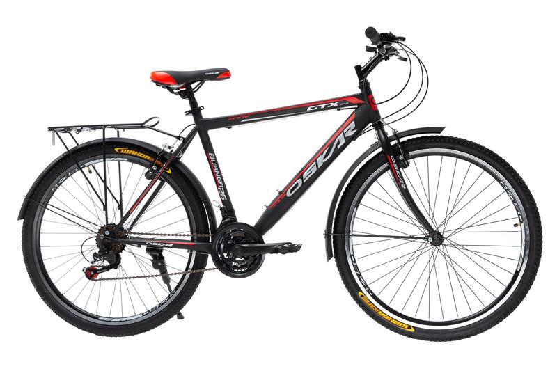 """Велосипед Oskar 26"""" GTX черно-красный"""