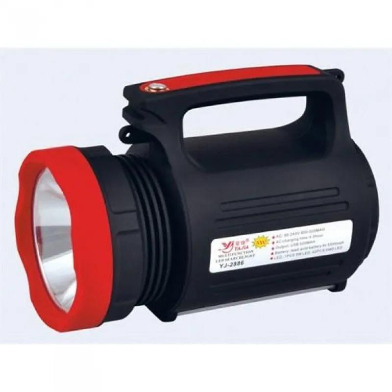 Мощный Светодиодный Фонарь Yajia YJ-2886 5W + Power Bank