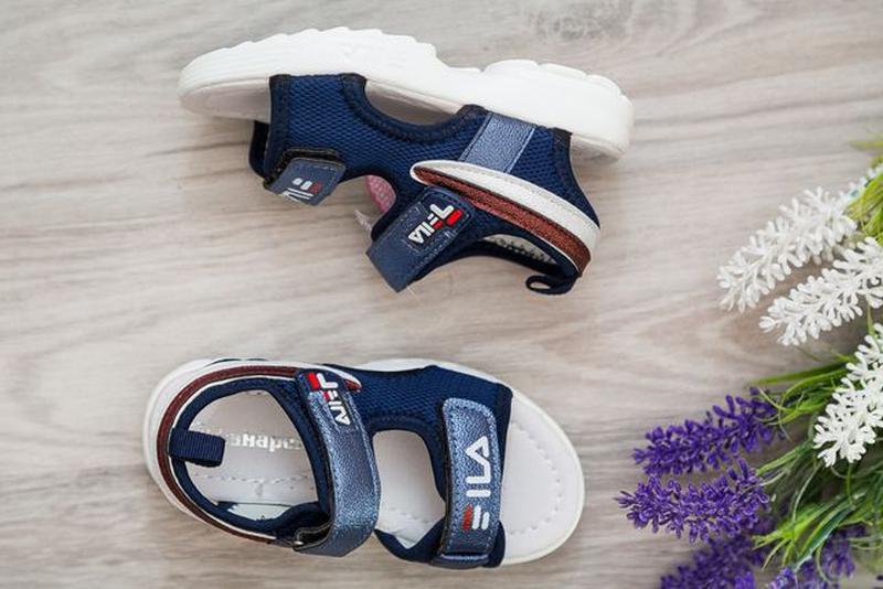 Босоножки на девочку, р.26-30 синие, сандалии, шлепки, літне в... - Фото 2