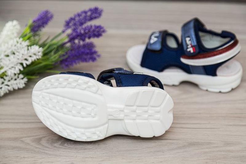 Босоножки на девочку, р.26-30 синие, сандалии, шлепки, літне в... - Фото 3