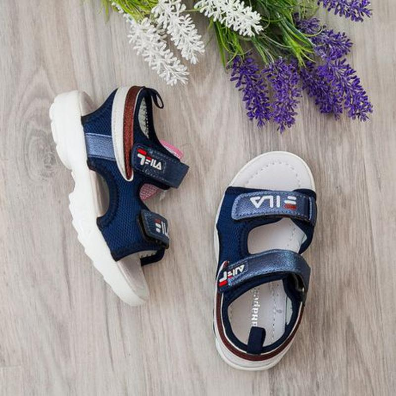 Босоножки на девочку, р.26-30 синие, сандалии, шлепки, літне в... - Фото 7