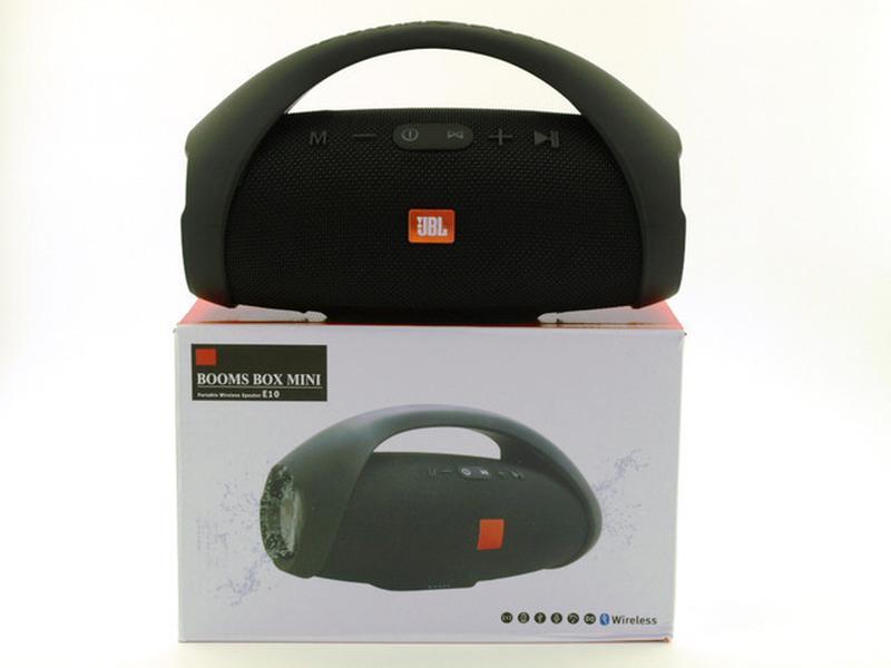 Колонка JBL BOOMBOX MINI E10 с USB, SD, FM, Bluetooth, 2-динамика - Фото 3