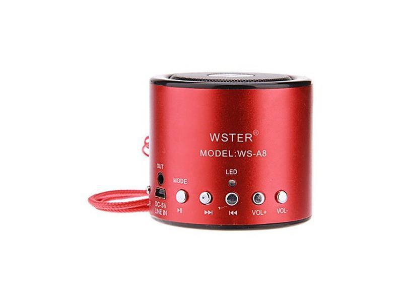 Колонка Мини портативная WSTER WS-A8 с MP3, USB и FM-pадио - Фото 4