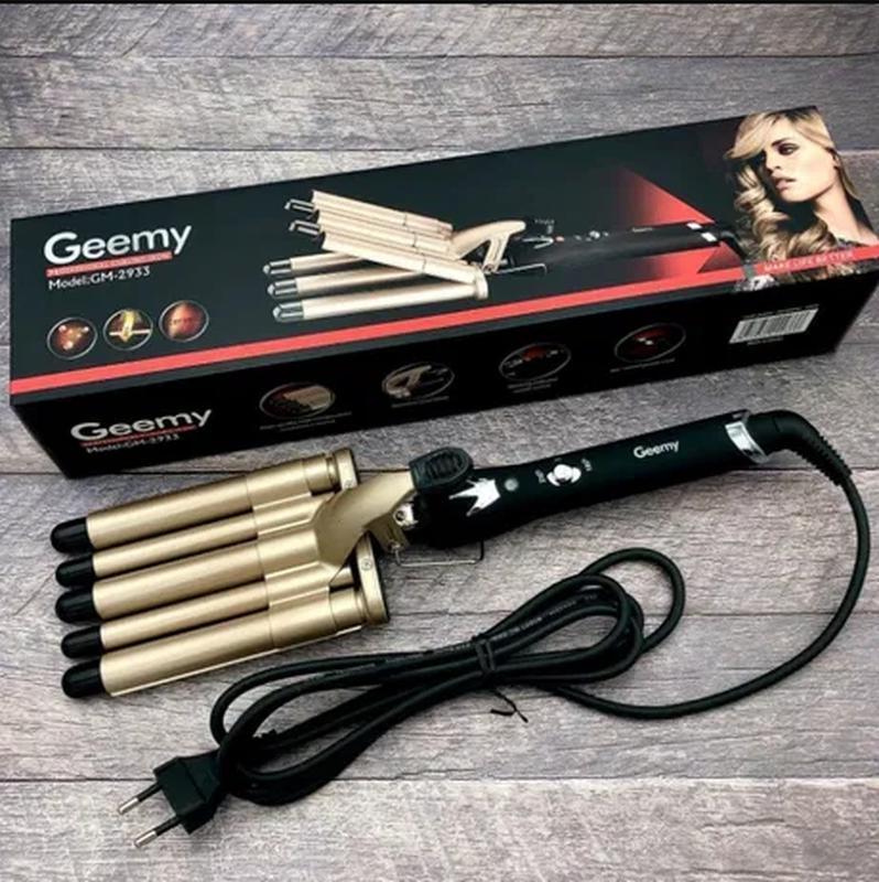 Плойка пять волн для завивки волос щипцы Gemei GM-2933 ,Щипцы для - Фото 3