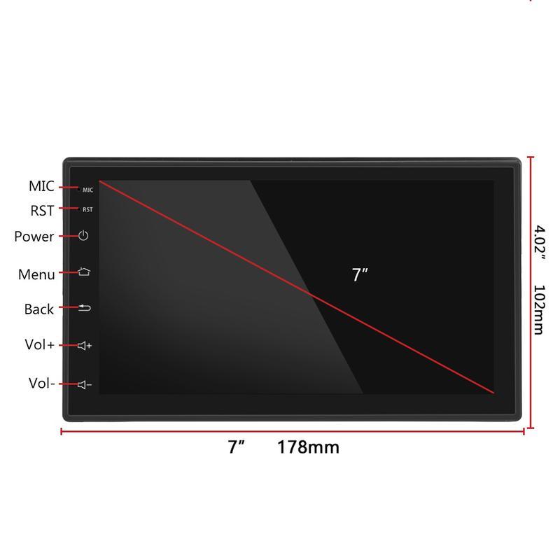 Автомагнитола 2 DIN 8701 Android, WiFi, Bluetooth, GPS - Фото 2