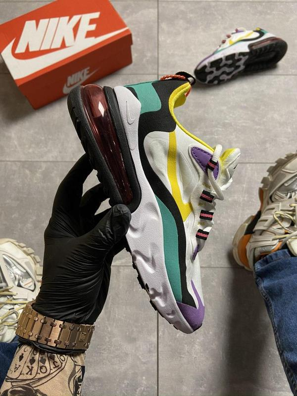 Nike air max 270 react white multicolor.