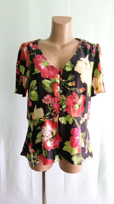 Блуза блузка шелковая east , р. 48.