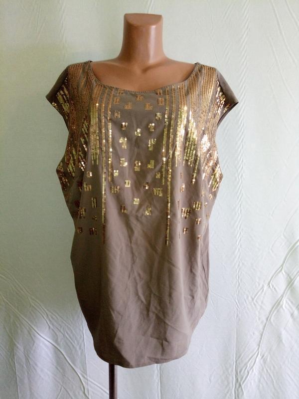 Блуза блузка с пайетками south, р. 50-52.