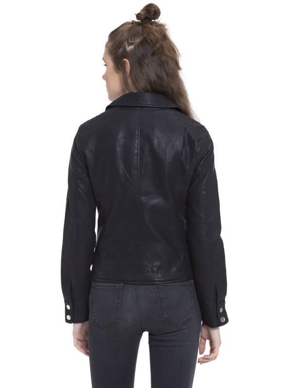Куртка косуха женская кожаная турция - Фото 2